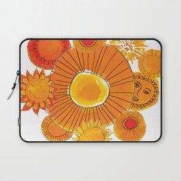 soles naranjas Laptop Sleeve