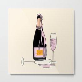 Fancy Champagne Metal Print