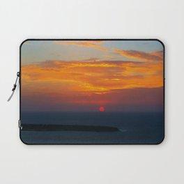 Sunset in Oia Santorini cv Laptop Sleeve