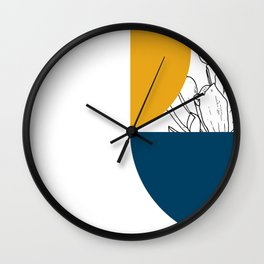VESSEL - Floral Ink in Peacock & Mustard - Cooper and Colleen Wall Clock