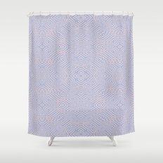 Light pink and blue spirals #4627 Shower Curtain