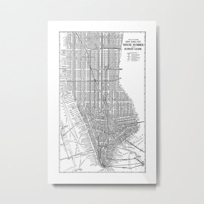 Subway Map Manhatten.New York City Subway Map New York City Art Manhattan New York Metal Print By Davidtribby