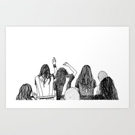 Headbangers Art Print