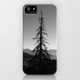 Black Tree in the Mountains iPhone Case