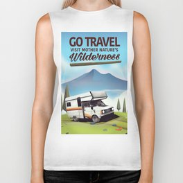 Go Travel - Visit mother natures wilderness. Biker Tank