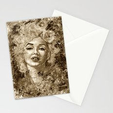 blonde bombshell - sepia version Stationery Cards