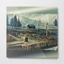 Snow In The Vaucluse Metal Print
