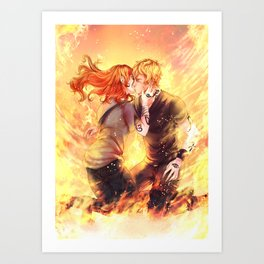 Heavenly Fire Art Print