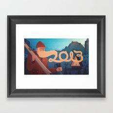 Golden Beard - 2013 Greetings Framed Art Print