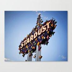 Vintage Stardust Sign, Las Vegas Canvas Print
