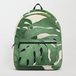 Tropical Leaves- Abstract Art  Backpack