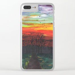 Birds Migrating at Sunset Clear iPhone Case