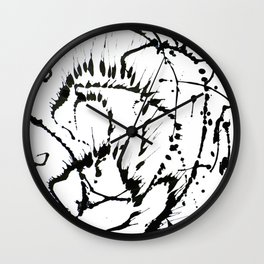 Black & White Abstract 1 Wall Clock