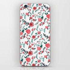 Floral Orange Pattern iPhone & iPod Skin