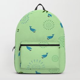 Green Orca and Dolphin Backpack