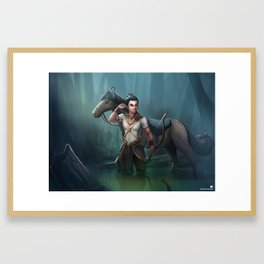 Prince in the jungle Framed Art Print