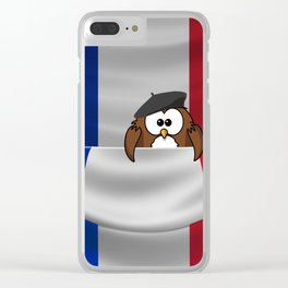 Frenchy owl Clear iPhone Case