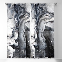 Marble B/W/G Blackout Curtain