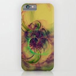 Phantom Heart Nebula Fractal Art  iPhone Case