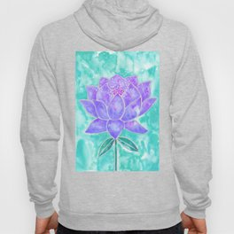 Sacred Lotus – Lavender Blossom on Mint Palette Hoody