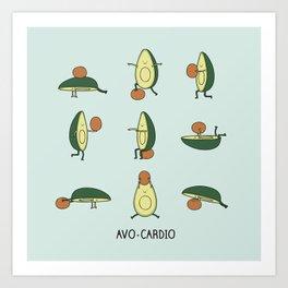 Avo-cardio Art Print