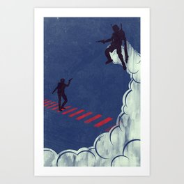 Blood Stripes & Bounties (version 2) Art Print
