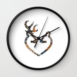 Deer Heart Wall Clock