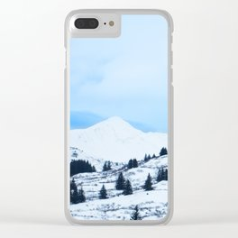 Winter Landscape Photography Print Clear iPhone Case