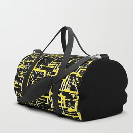 Mid-century Pattern #198 (black yellow texture) Duffle Bag