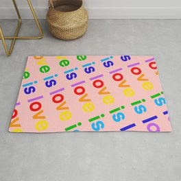 Love is Love diagonal Rug