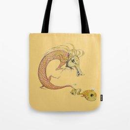 Dragon with fish Tote Bag