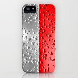 Flag of Indonesia - Raindrops iPhone Case