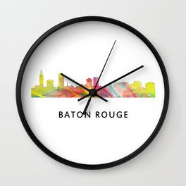 Baton Rouge Louisiana Skyline Wall Clock
