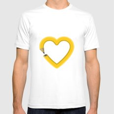 Love to draw Mens Fitted Tee MEDIUM White