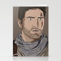 uncharted Stationery Cards featuring Nathan Drake (Uncharted) by  Steve Wade ( Swade)