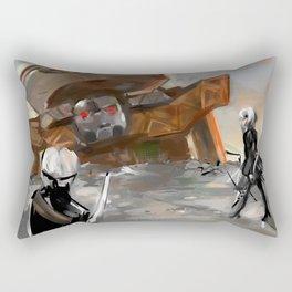 Nier Automata Goliath Scene Rectangular Pillow