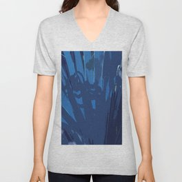 Blue Leaf Unisex V-Neck