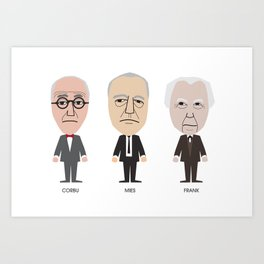 The Godfathers of Modern Architecture Art Print