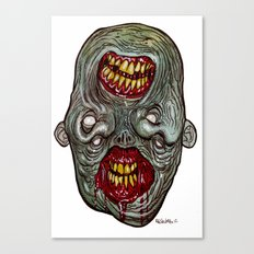 Heads of the Living Dead Zombies: Two Face Zombie Canvas Print