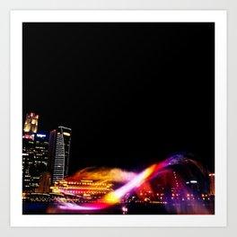 Laser Show Art Print