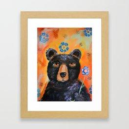 Bearly Springtime Framed Art Print