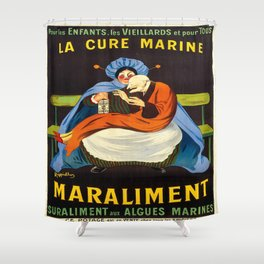 Vintage poster - La Cure Marine Marliament Shower Curtain