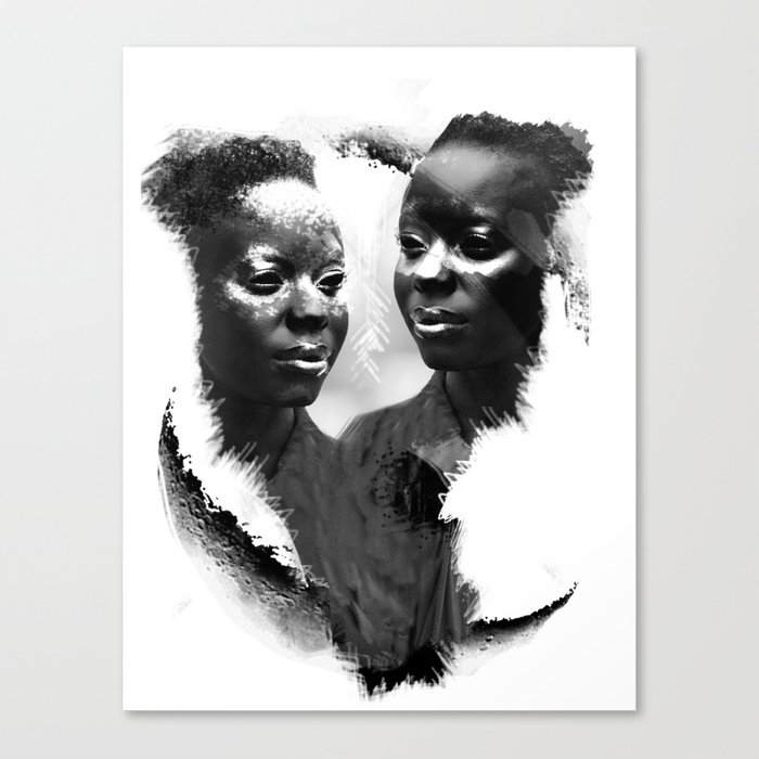 BLACK LOVE Canvas Print