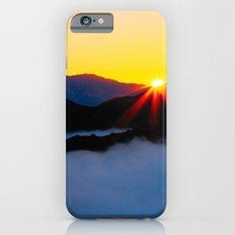 Dawn in the fog covered Santa Monica Mountains, California iPhone Case