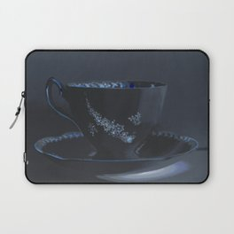 The Black Teacup | Still Life | Kitchen Art | Tea Laptop Sleeve