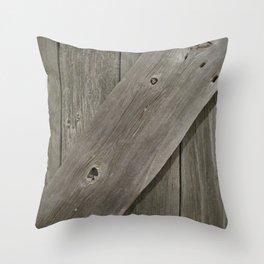 Barn Board Door Throw Pillow