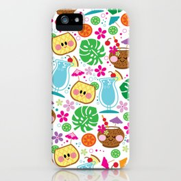aloha blue hawaii iPhone Case
