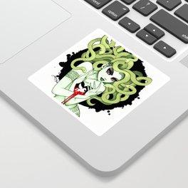 Medusa in Vignette Sticker