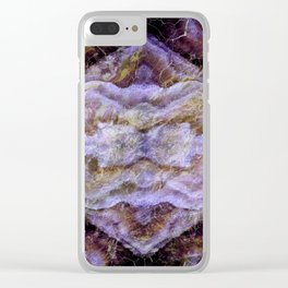 Abstract Mineral Amethyst Crystal Texture Clear iPhone Case