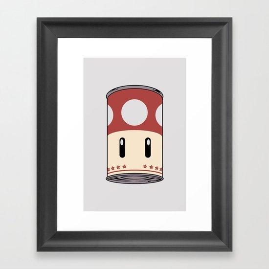 cream of mushroom super. Framed Art Print